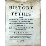 Selden (John) The History of Tythes, sm. 4to [L.] 1618. First Edn.