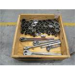 """Lot of Assorted 1"""" Drive Sockets & Ratchets"""