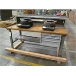 "33"" x 72"" Wood Top Work Bench"