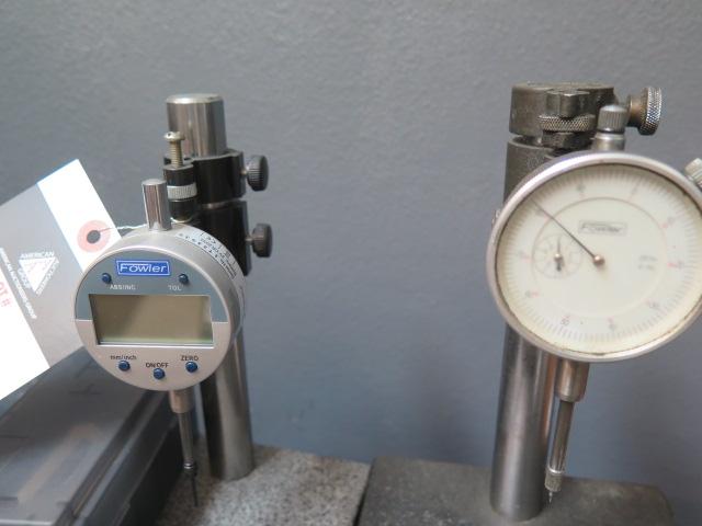 """6"""" x 6"""" Granite Indicator Bases w/ Digital and Dial Indicators (2) - Image 2 of 2"""