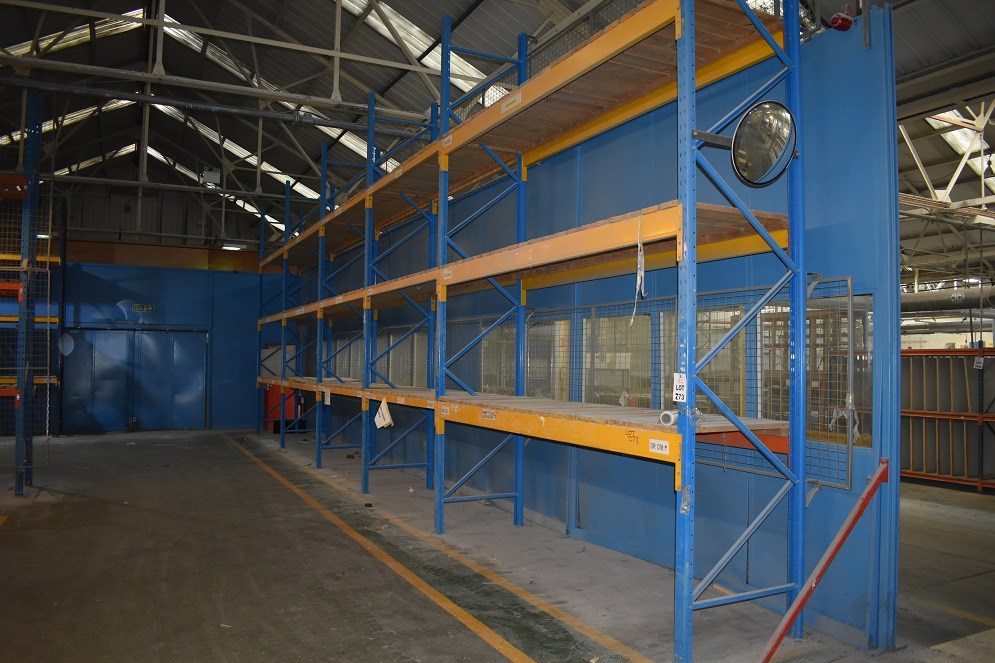 5 BAYS OF HEAVY DUTY PALLET RACKING 4MTR HIGH