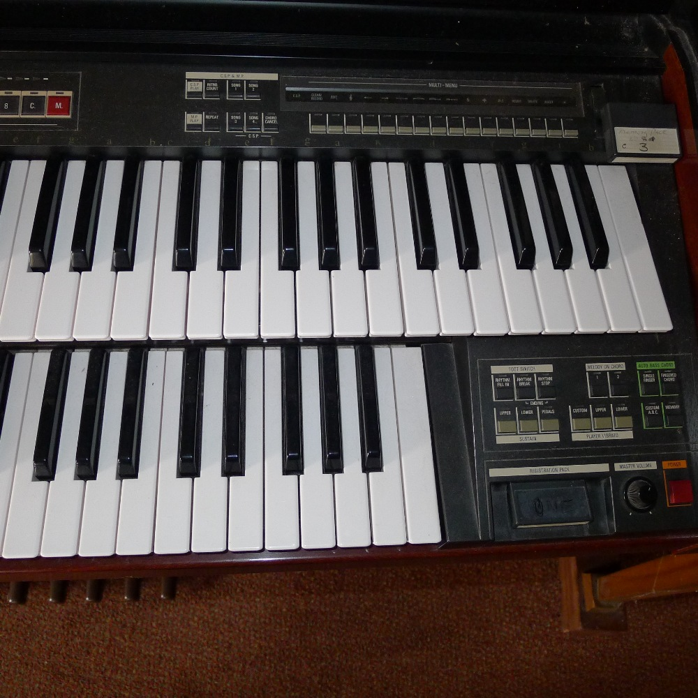 Lot 43 - 1 YAMAHA Electone MC-600 double keyboard electric organ (located in nursery area)