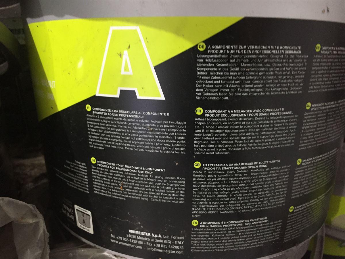 1x 10kg Tub VerMeister 2pak Wood flooring Adhesive - Image 2 of 4
