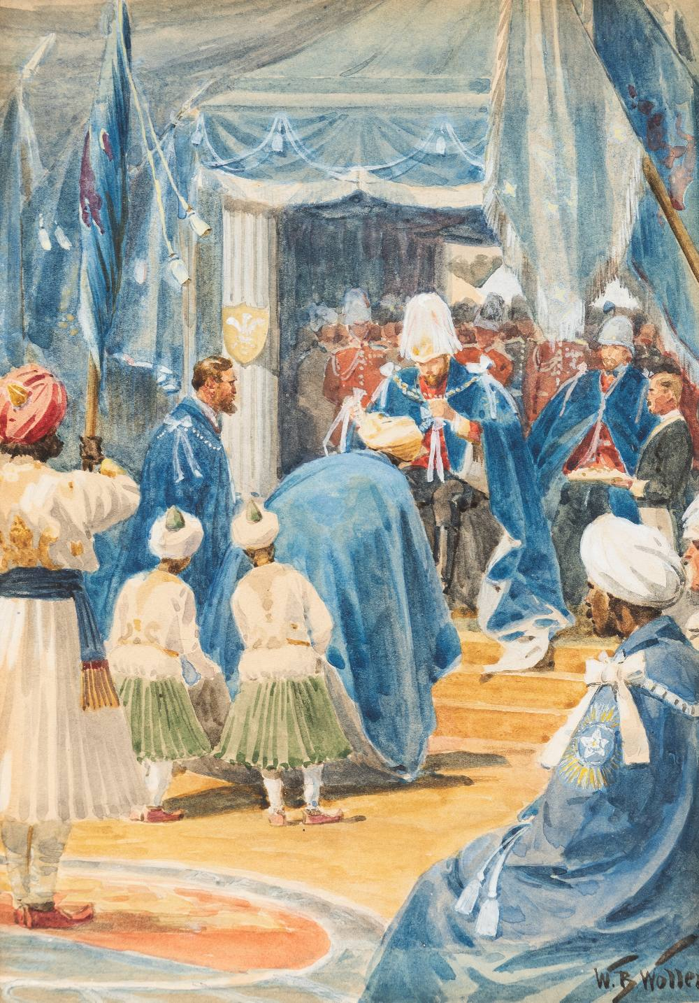 Lot 138 - WILLIAM BARNES WOLLEN, R.I., R.O.I., R.B.C. (1857-1936) THE INVESTITURE OF THE STAR OF INDIA BY