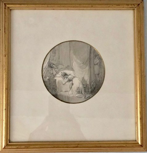 Lot 120 - WILLIAM HENRY BROOKE (1772-1860) A SCENE FROM 'THE TRAGEDY OF LADY JANE GREY' inscribed