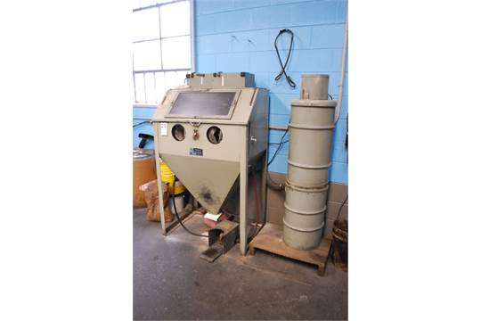 TRINCO MODEL 36 DRY BLAST CABINET: S/N 8249-4; W/Dust Collector (MD)