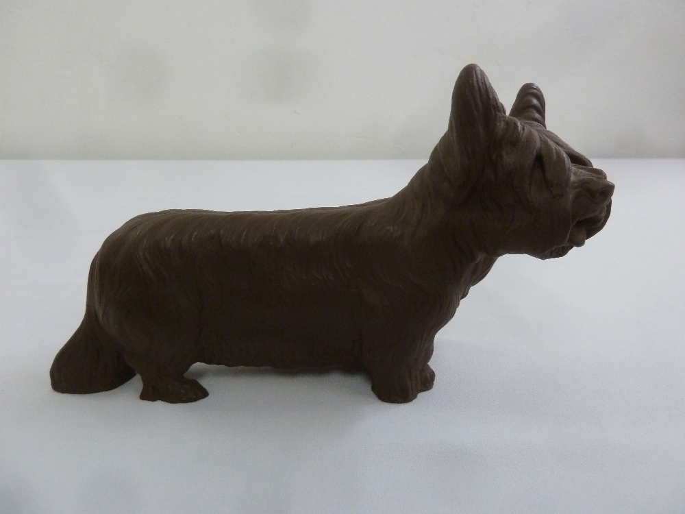Lot 166 - A Meissen Botter Steinzeug unglazed figurine of a dog, marks to the base