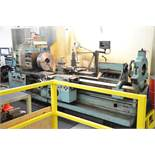 """TOS SUS63 ENGINE LATHE WITH 28"""" SWING, 85"""" BETWEEN CENTERS, 19.5"""" 3-JAW CHUCK, SPEEDS TO 1,120"""