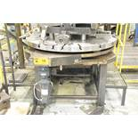 """VPC POWERED ROTARY SUB TABLE WORK SETUP SYSTEM WITH (2) 57"""" T-SLOT SUB TABLES, S/N N/A (550"""