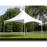 LOT: (2) Canopy - 10 ft.. x 10 ft.. x 7ft.., White, Central Tent Quick Peak