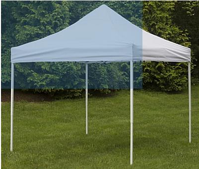LOT: (2) Canopy-10ft.. x 10 ft.. x 7 ft.., White, Easy Up