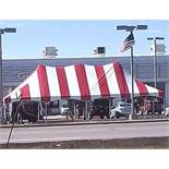 Canopy - 20 ft.. x 40 ft.. x 8 ft.., Red/White, All Peak