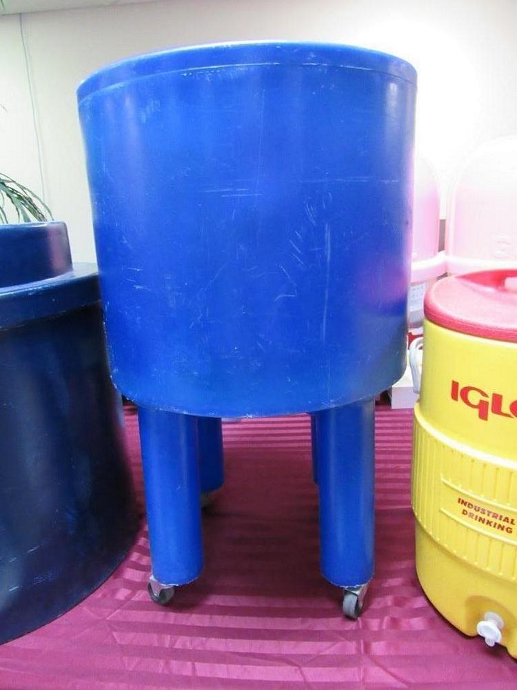Party Cooler-Blue, Insul, W/Wheels, (8g Keg, 96 Cans)