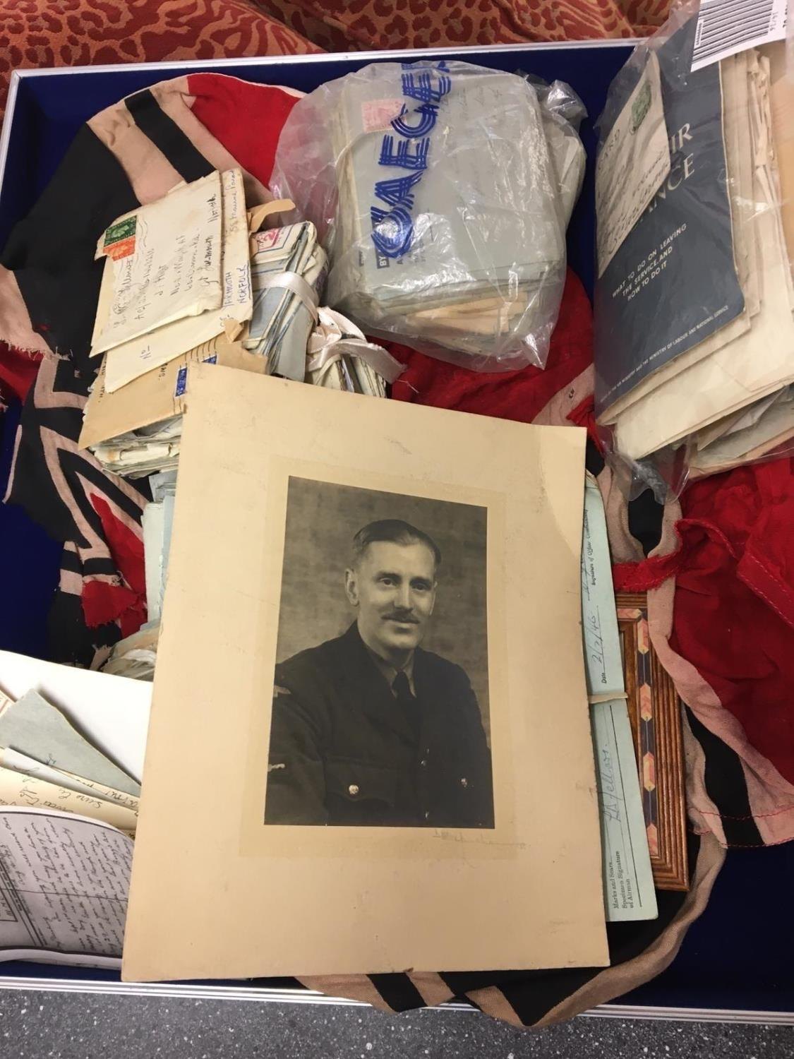 RAF interest, a huge selection to LAC L.W Fellows to include photos, letters and a battered WWII