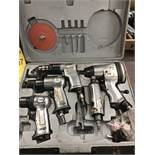 5-TOOL PNEUMATIC KIT; GRINDER, SANDER, 3/8'' DRILL, 1/2'' IMPACT WRENCH, AND AIR HAMMER