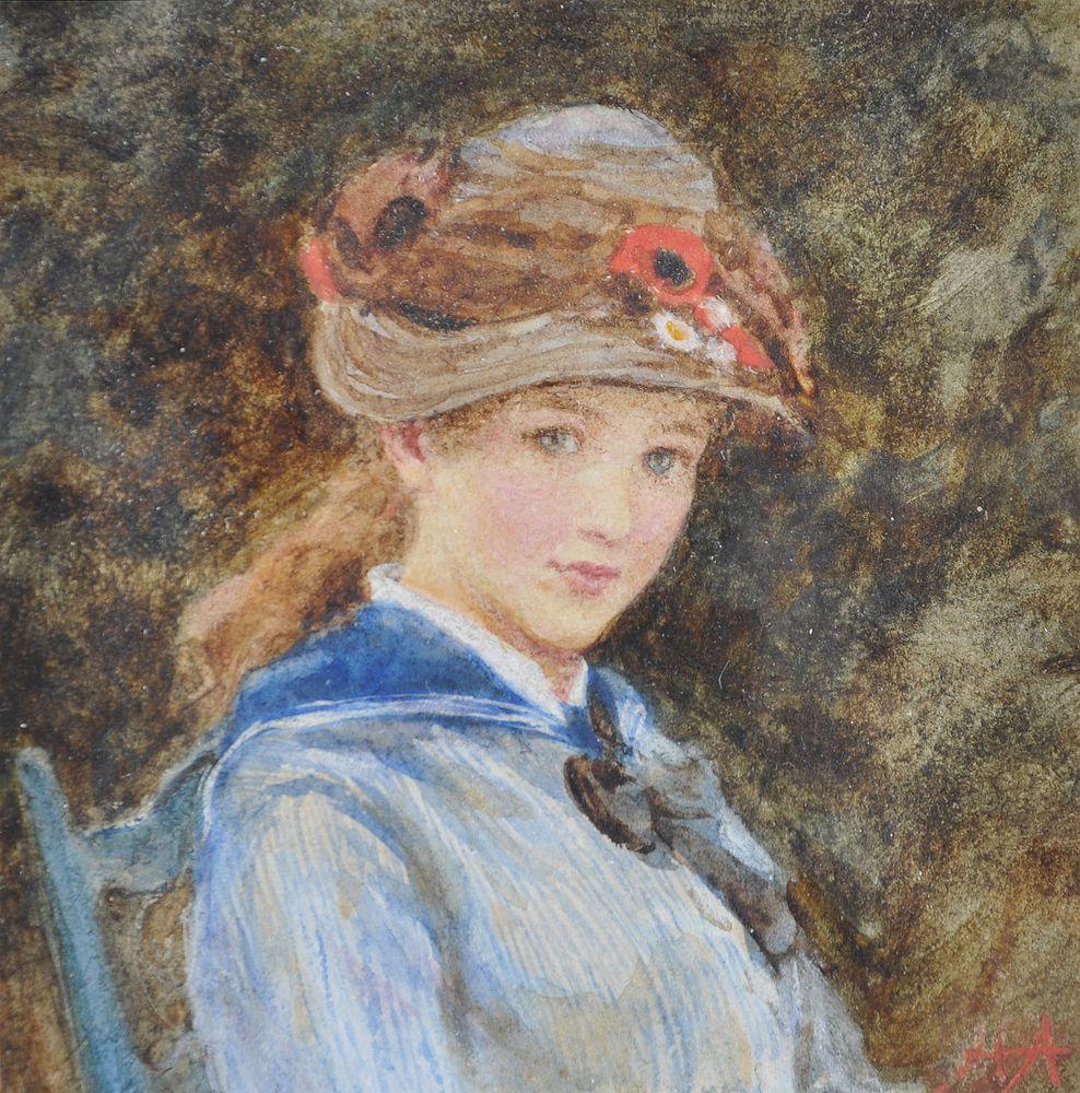 Lot 186 - Helen Allingham (British 1848-1926), Portrait of Amy Margaret Thackeray