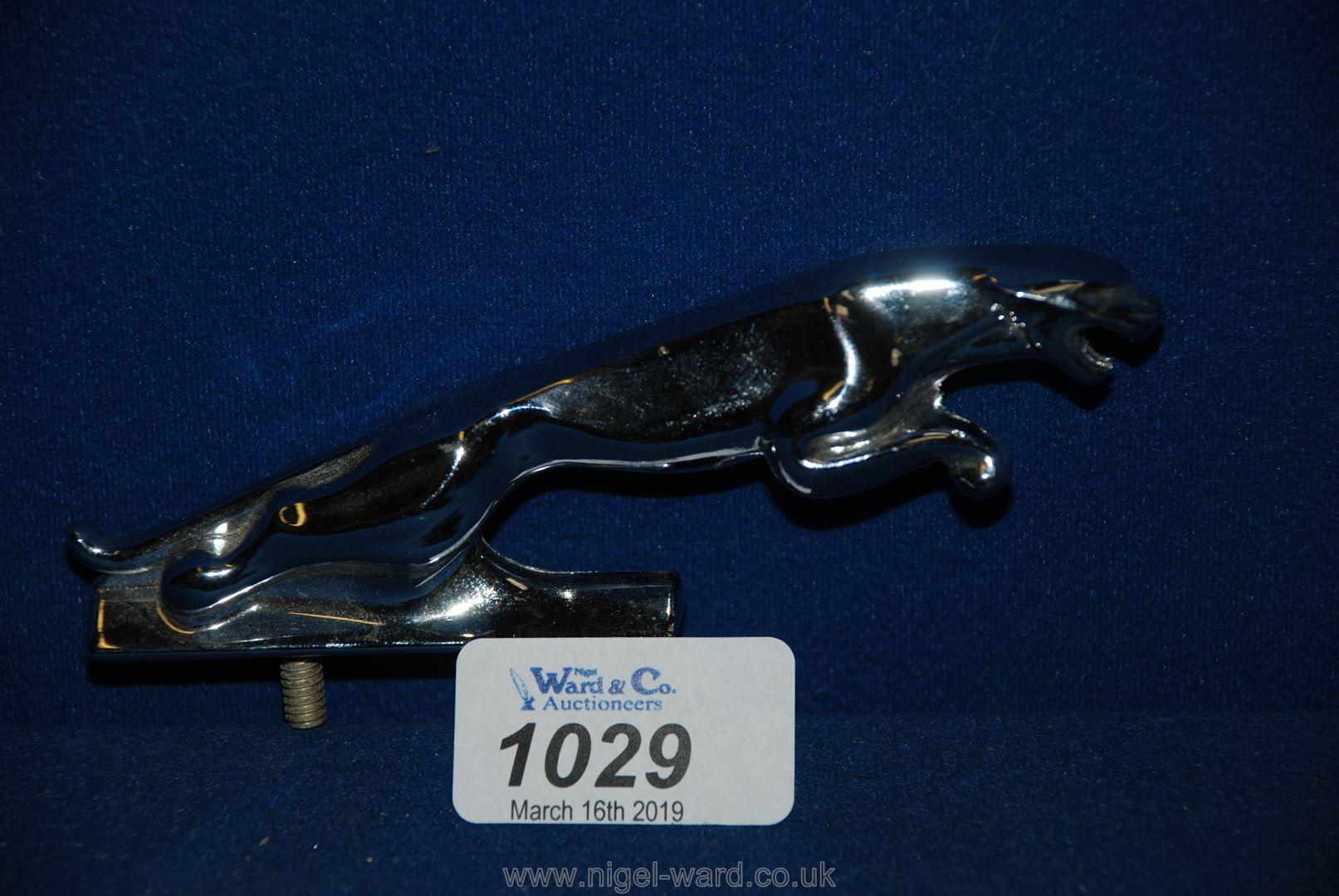 Lot 1029 - A Jaguar car Mascot