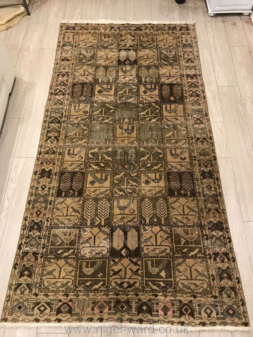 Lot 1058 - A hand-made Bakhtiar, ''55 houses'' Carpet in beige,