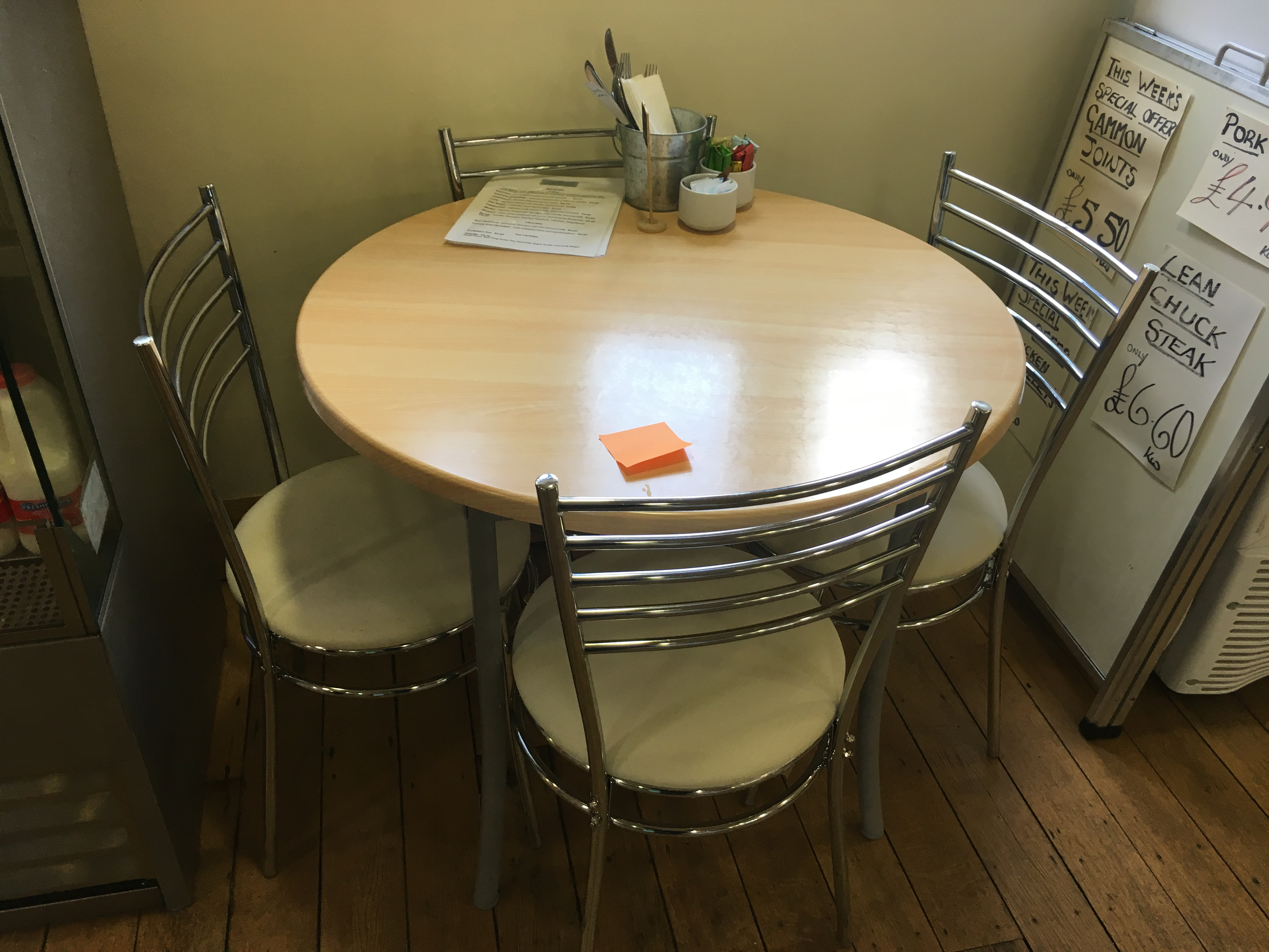 Lot 20 - Table and 4 Chairs
