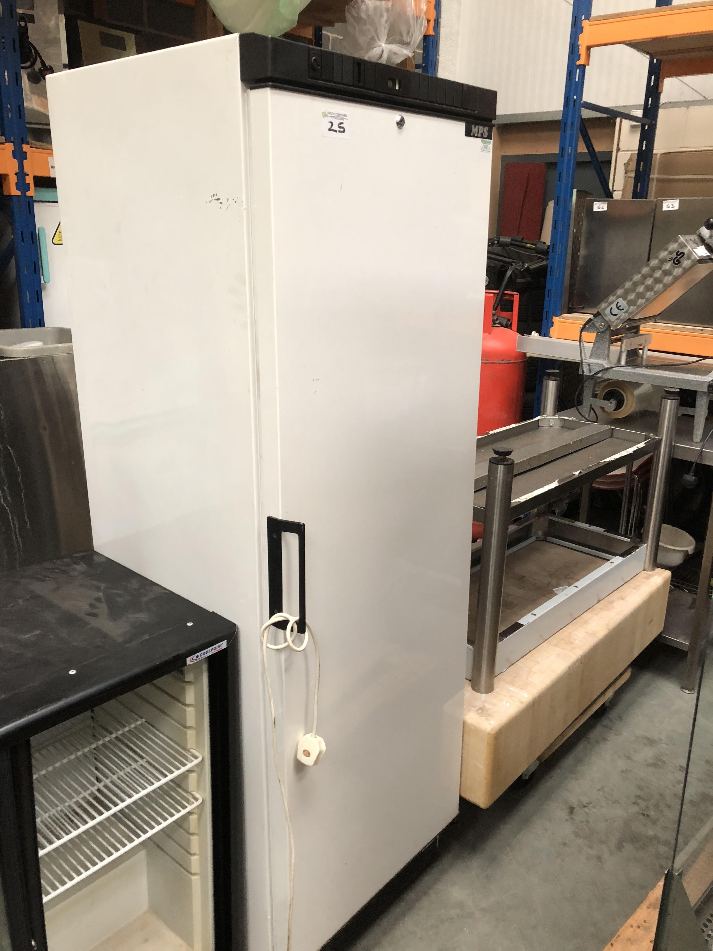 Lot 25 - MPS White Upright Freezer