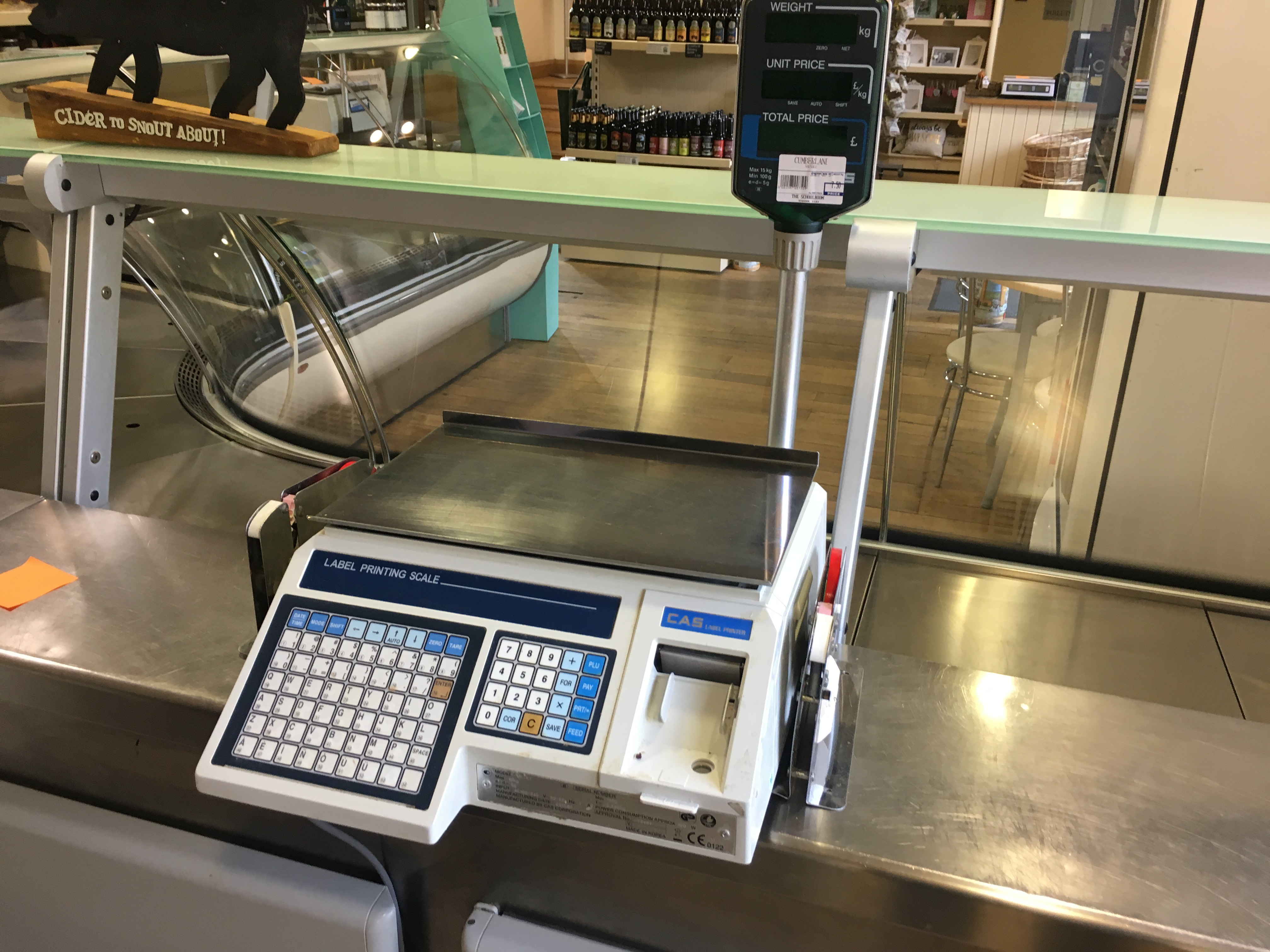 Lot 9 - CAS Lable Printer Scale with Pod