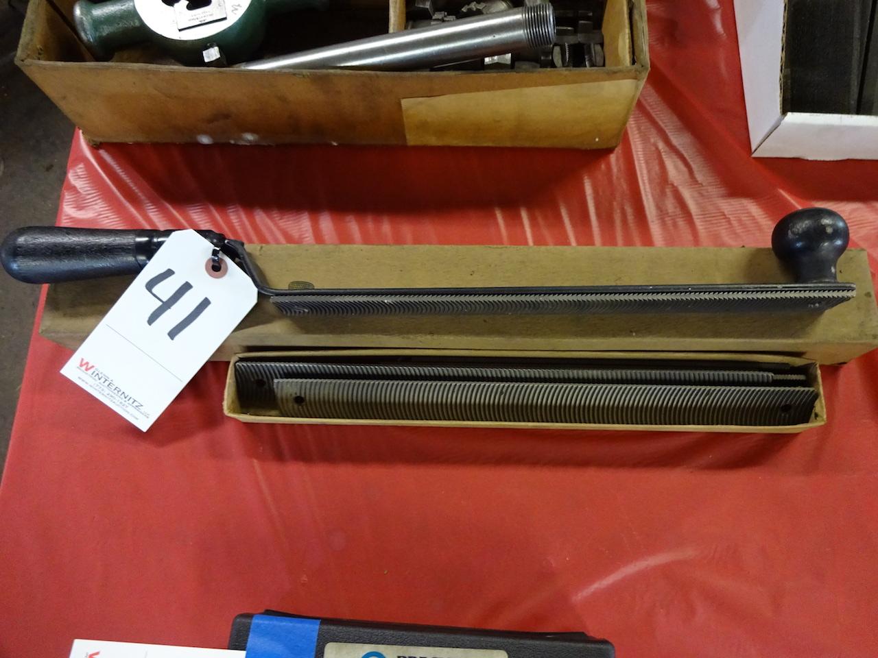 Lot 41 - LOT: Heller Brothers No. 416 File Holder with Flex Vixen Files