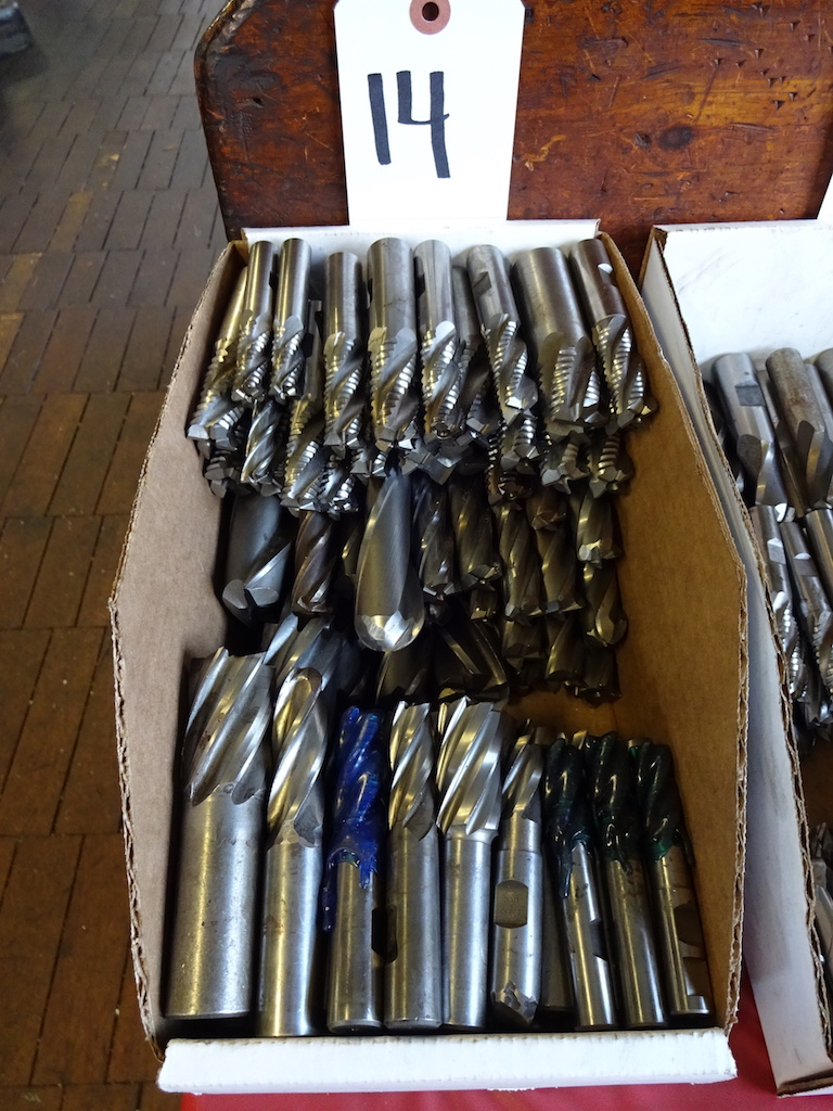 Lot 14 - LOT: Assorted Single-End Milling Cutters
