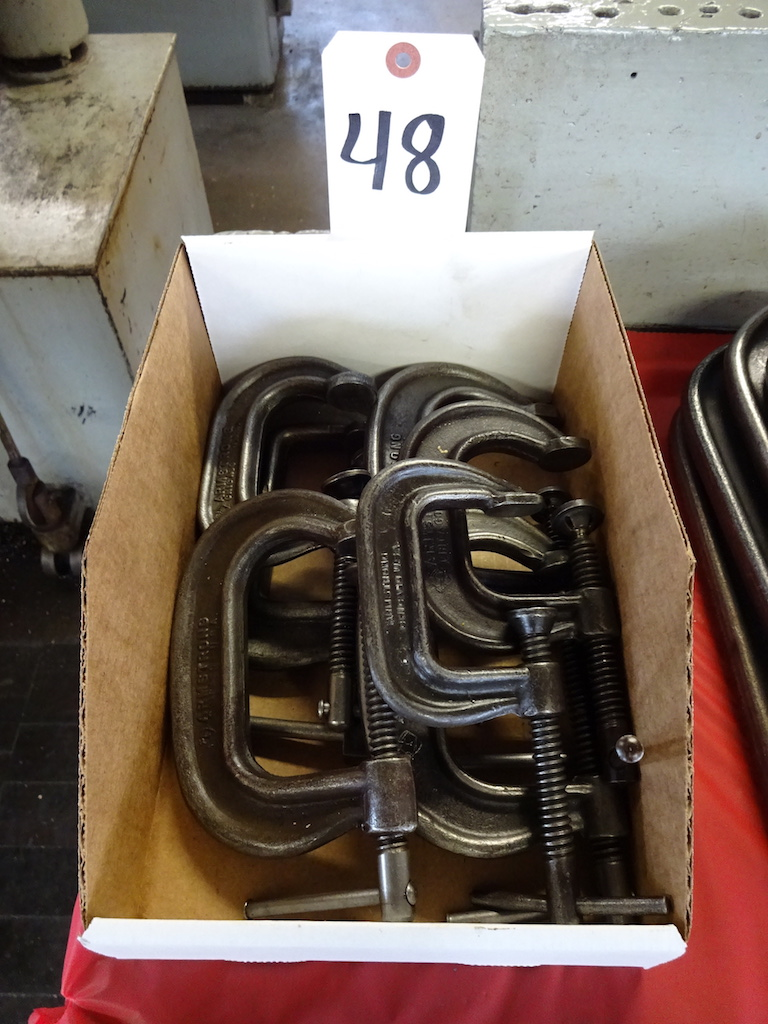 Lot 48 - LOT: (7) Assorted Armstrong C-Clamps