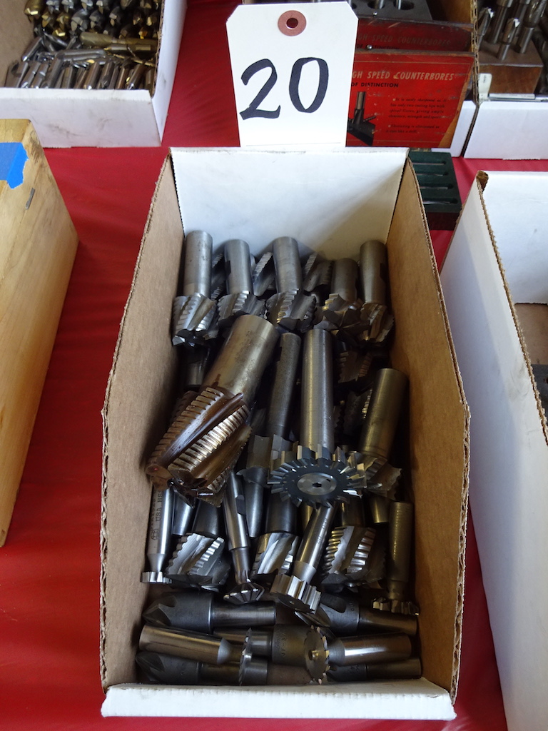 Lot 20 - LOT: Assorted Milling Cutters