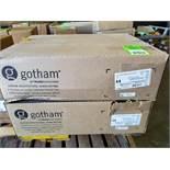 Qty 2 - Gotham light. Model EVO-27/20-6-MWD-MVOLT-EZ1. New in box.
