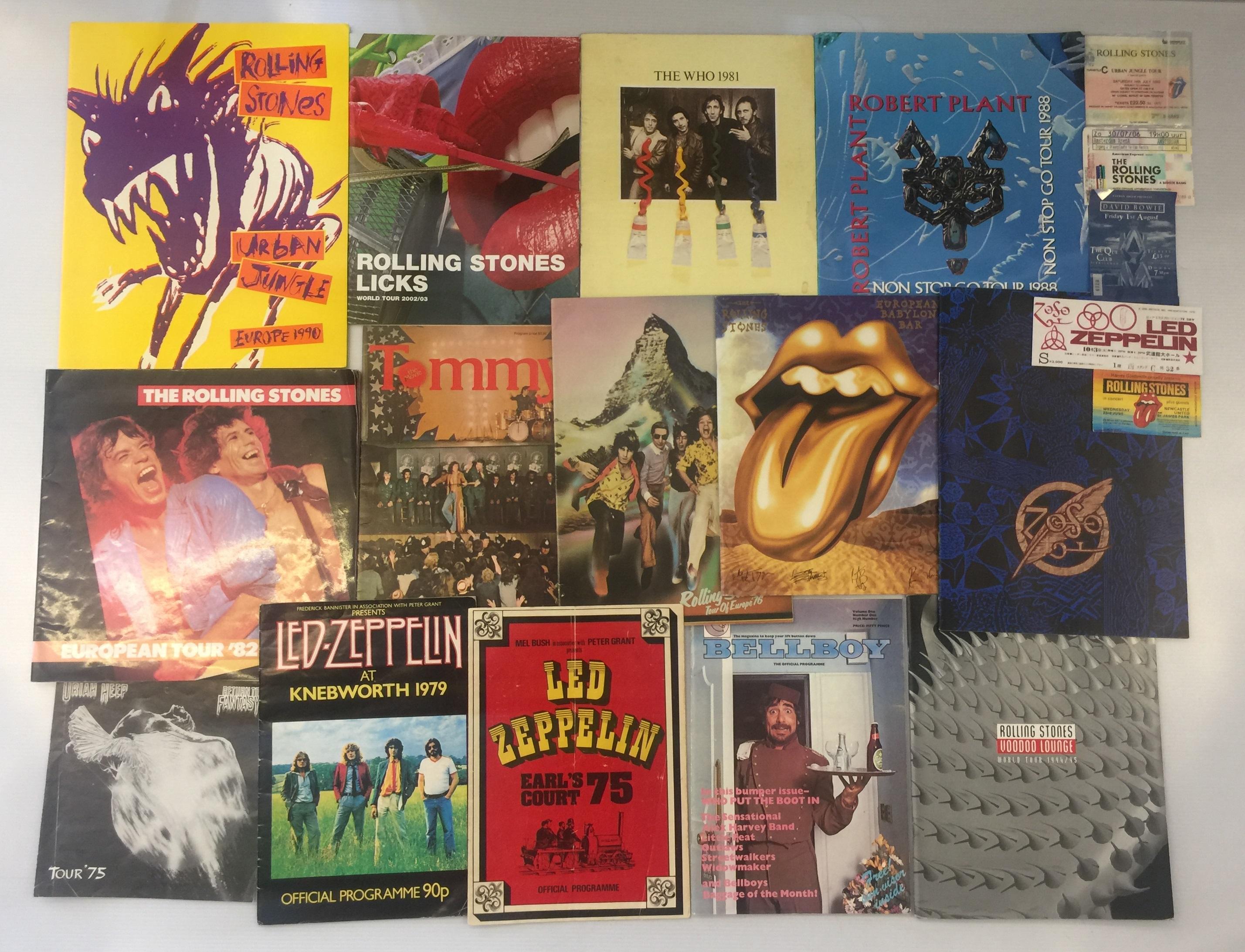 Led Zeppelin Rolling Stones Rock Programmes Amp Tickets