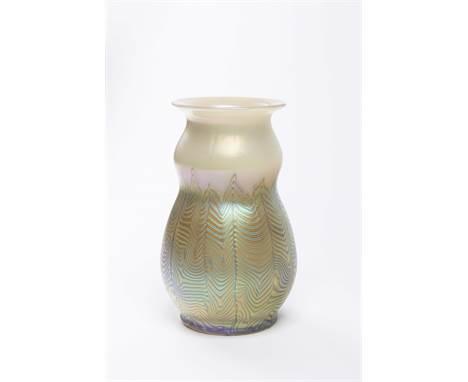 LOETZ VASE PHAENOMEN Ca. 1900 Bohemia Glass 15 cm Blown glass Loetz vase from Klášterský mlýn made of milky opalescent glass