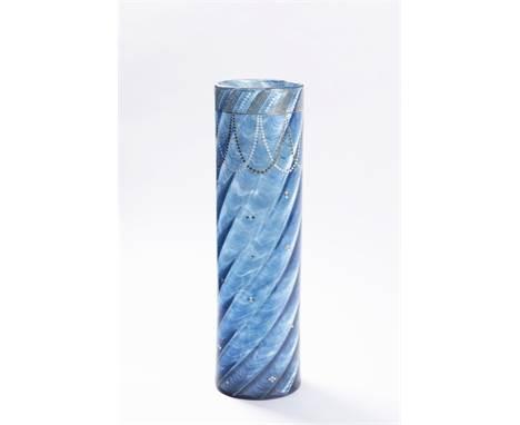 VASE LOETZ MELUSIN 1905 Bohemia Handpainted glass 41 cm A rare tall vase produced by Loetz Witwe, Klášterský mlýn, design by