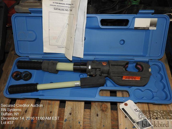 Thomas & Betts model TBM14M 14 ton manual hydraulic crimping tool ...