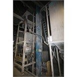 """Universal Aprox. 30 ft. H Bucket Elevator Conveyor System, Model B3-75 with Aprox. 34' L x 10"""" W"""