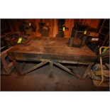 """Acorn Aprox. 6' L x 4"""" W x 32"""" H Welding Table with 77-Slot Tooling Channels and Mounted Vise"""