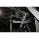 Harrington 3-Ton Electric Hoist with Bulk Bag/Tote Attachment and Crossbeam