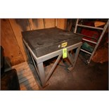 DoAll Aprox. 3' x 3' Granite Table Top, Model 20002, S/N 874-0, Mounted on Portable Cart