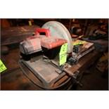 "Milwaukee 14"" Dia. Heavy Duty Chop Saw, S/N 892B906420274 with Mounted Vise, 70 Teeth, 1700 RPM, 120"