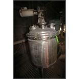 Desco Aprox. 60 Gal. Jacketed Mix Tank, Model LMC1278, S/N 6448, Pressurized Lid, 40 PSI Design