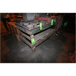 """Aprox. 5' L x 3' W x 34"""" H Shop Table Mounted on Casters"""