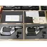 (2) Mitutoyo 1'' - 2'' Digital Micrometer Blades