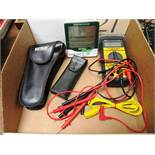 Ideal Phase Tester, Micronta Microscope, (2) Extech Thermometers