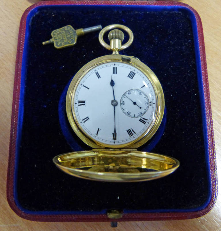 Lot 1167P - 18 CARAT GOLD POCKET WATCH WITH INSCRIPTION ''PRESENTED TO JAMES ROBB AMATEUR GOLF CHAMPION 1906