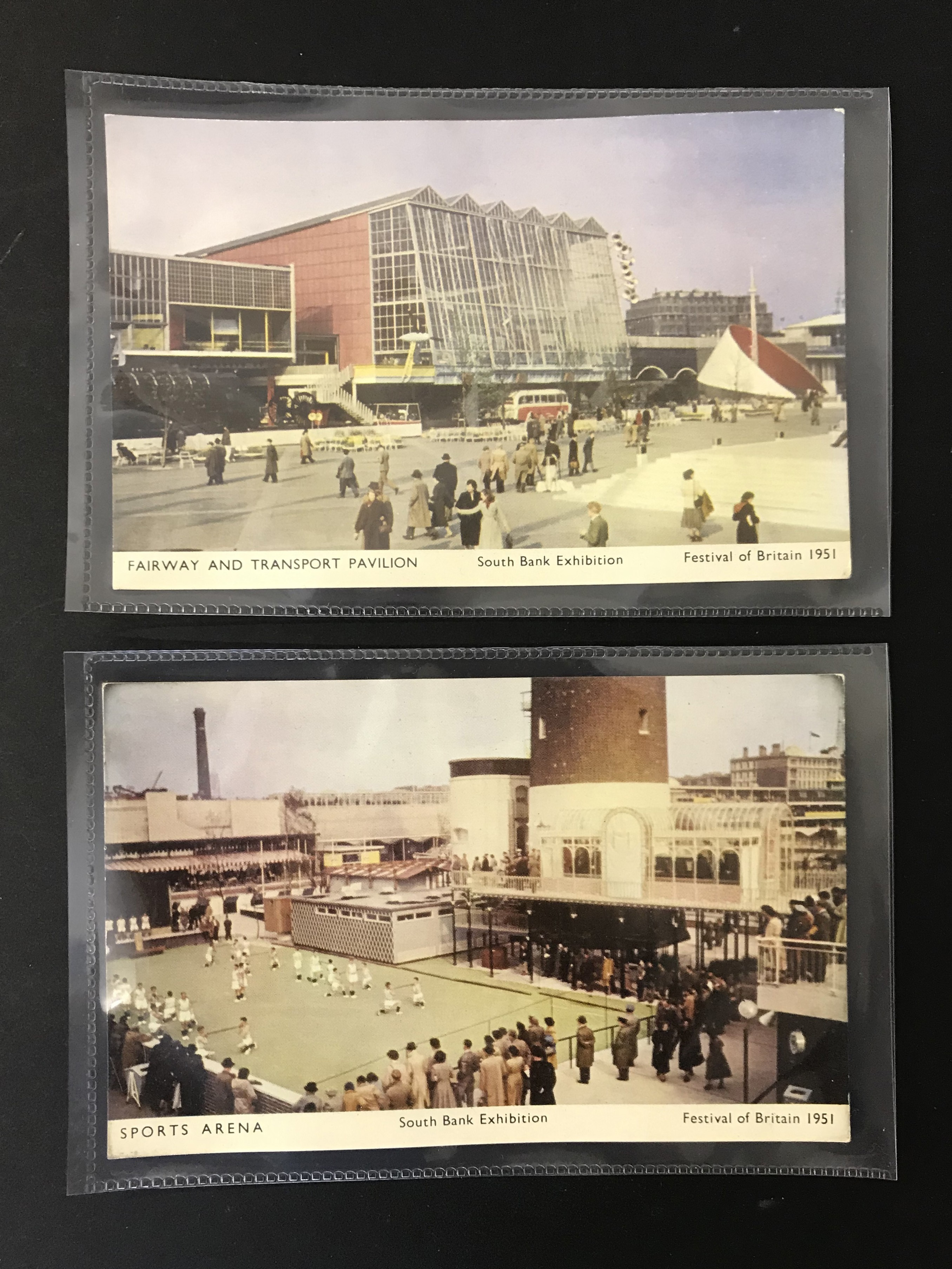COMPLETE SET OF SIX FESTIVAL OF BRITAIN POSTCARDS - 6 JARROLD POSTCARDS - SOUTH BANK EXHIBITION - Image 4 of 6