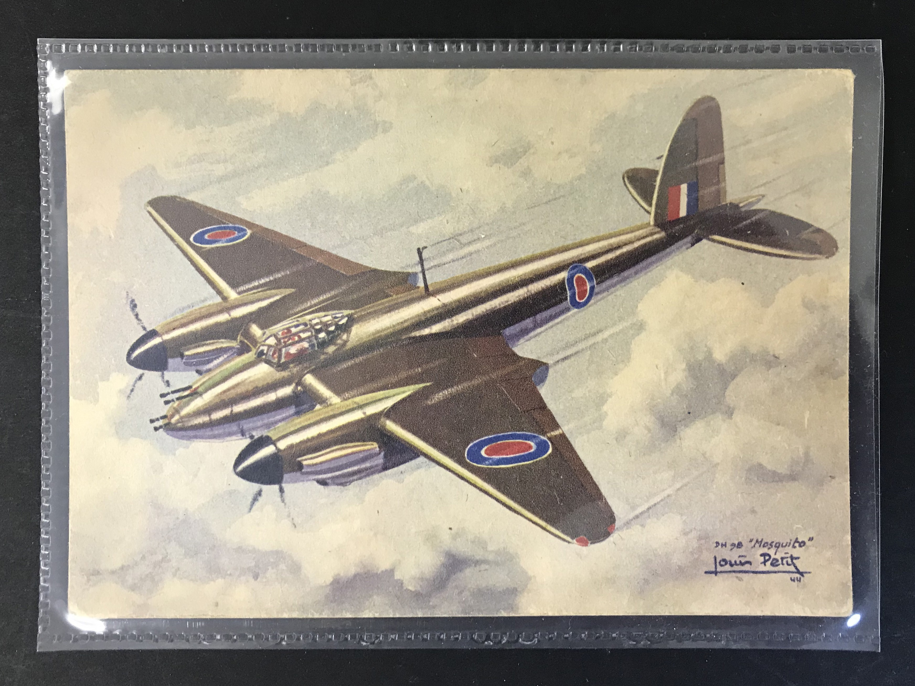 GROUP OF TWELVE FRENCH PLANES RELATED POSTCARDS - VARIOUS SERIES - Image 8 of 14