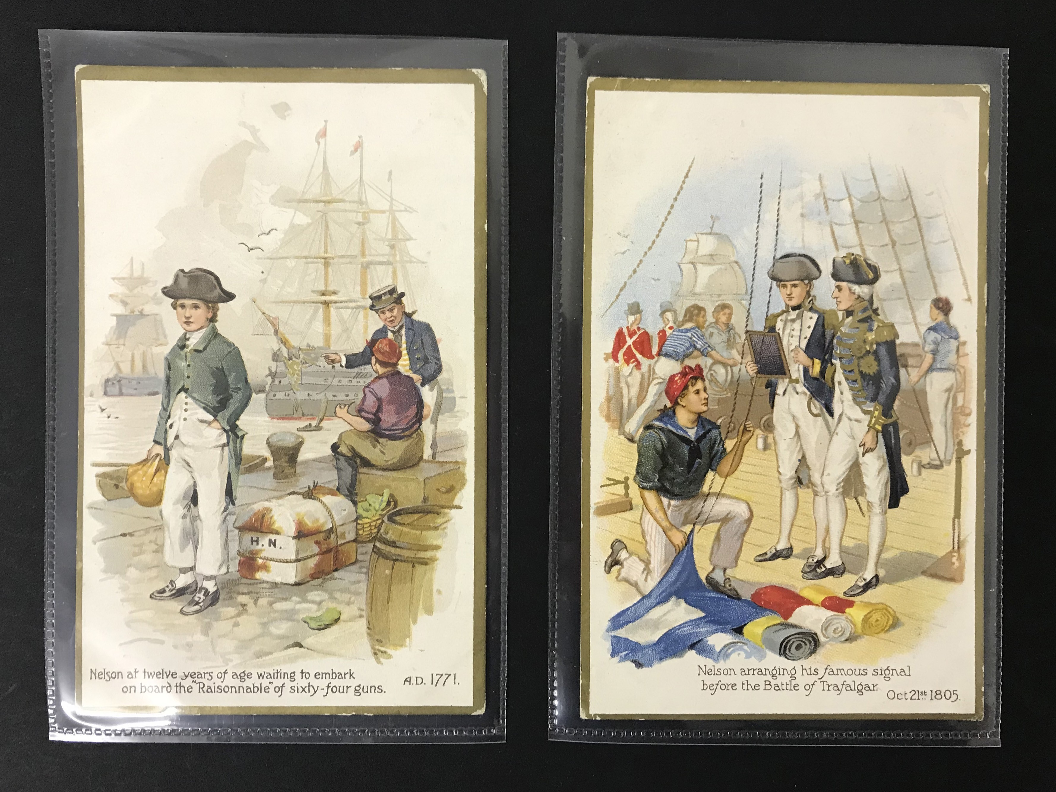 SET OF EIGHT OLD UNUSED POSTCARDS - LORD NELSON - Image 4 of 6