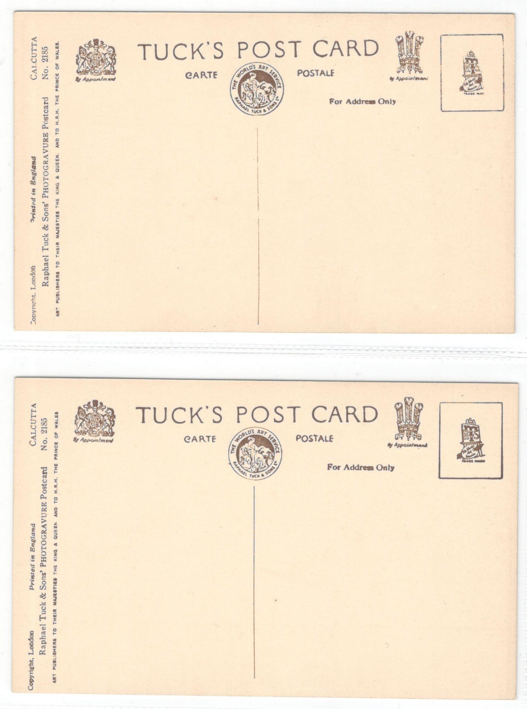 RAPHAEL TUCK POSTCARDS SET OF TEN CALCUTTA - 2185 - Image 4 of 4