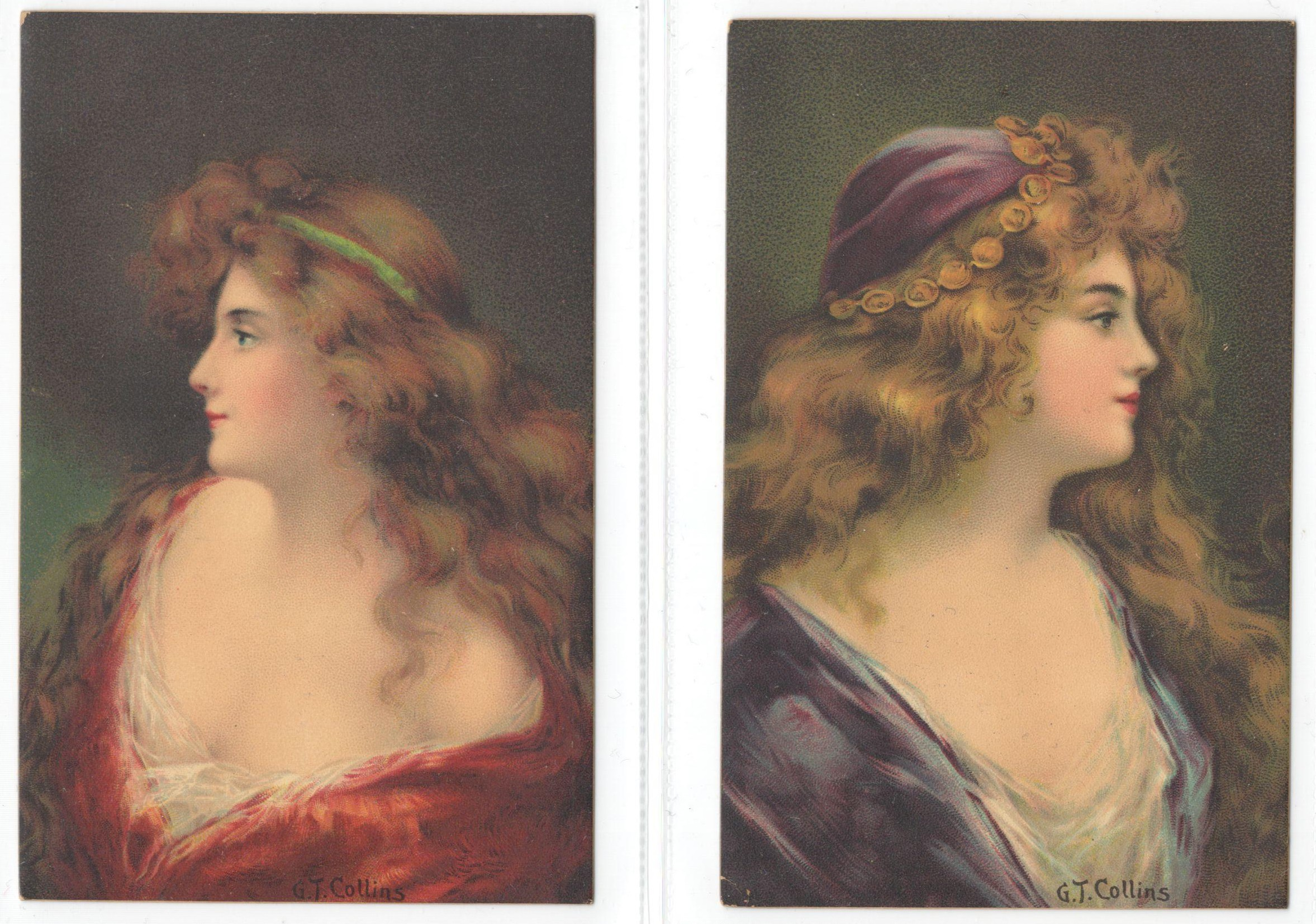 FOUR ARTIST SIGNED POSTCARDS - G T COLLINS