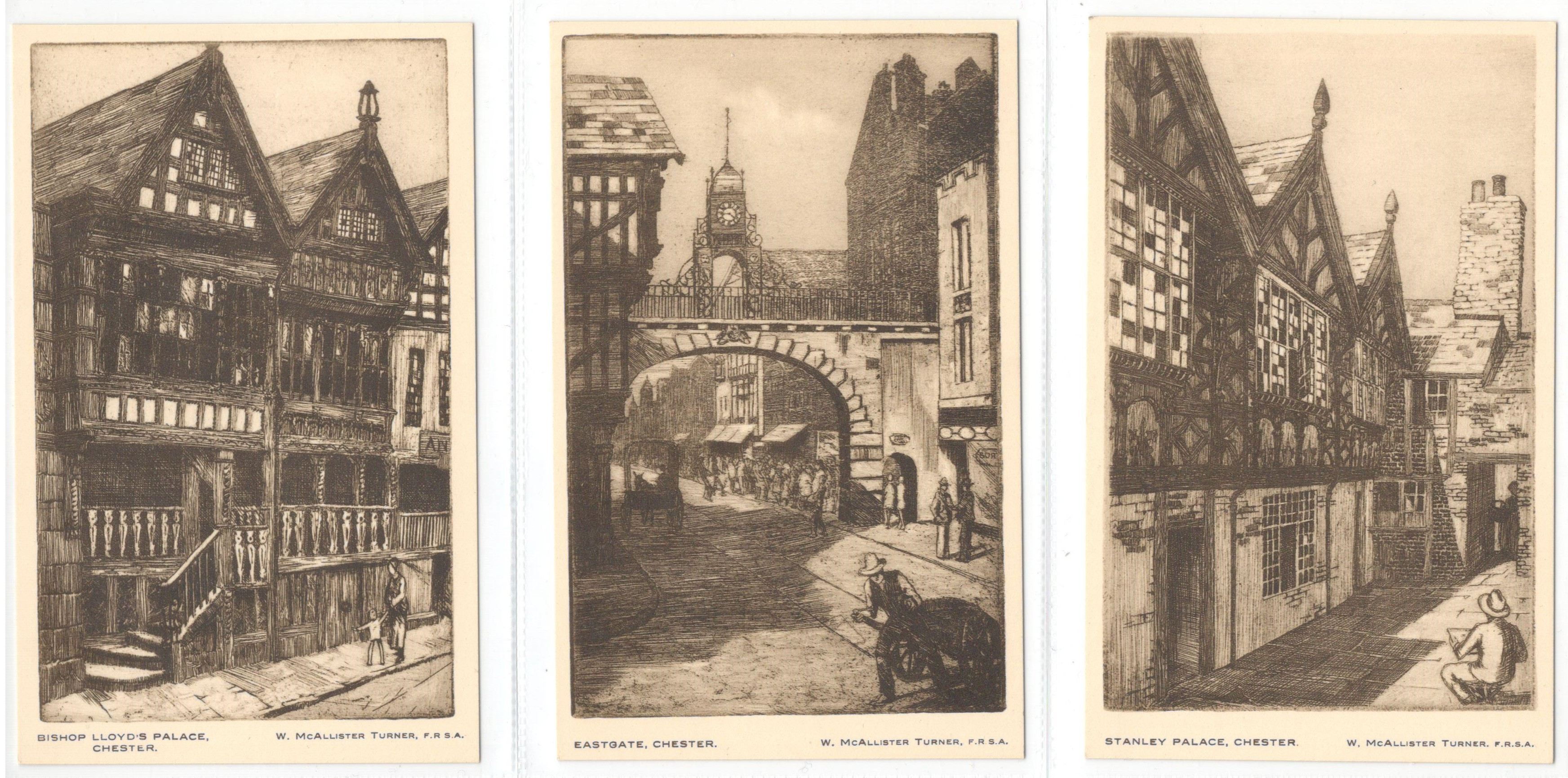 SET OF SIX CHESTER POSTCARDS - Image 2 of 3